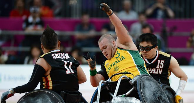 Ryley Batt helped Australia to victory over Japan in the Mixed Wheelchair Rugby Open semi-finals