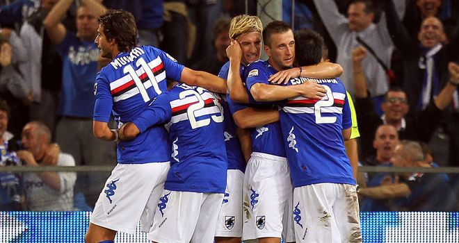 Sampdoria claimed a 2-1 victory over Siena