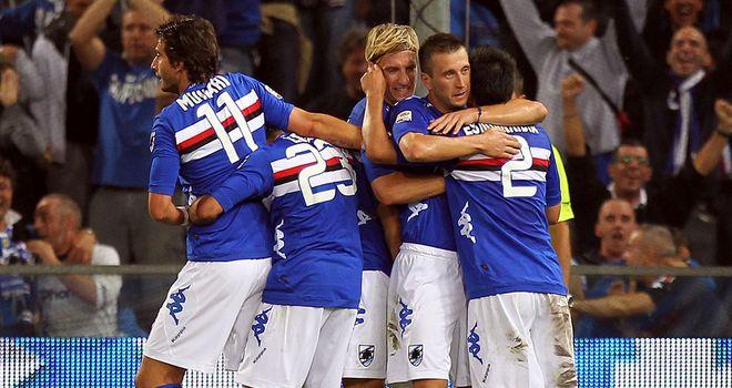 Sampdoria claimed a 2-1 victory over Siena