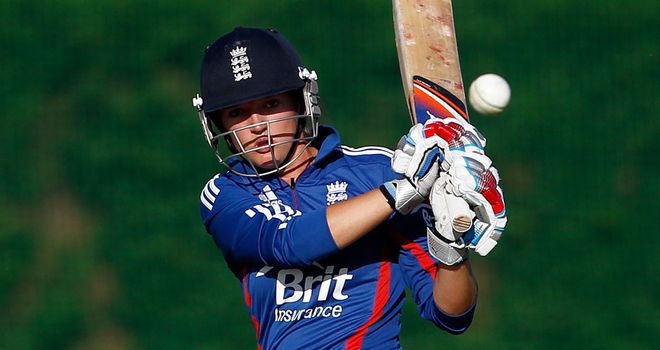 Cutting loose: Taylor goes on the attack against Pakistan at Loughborough
