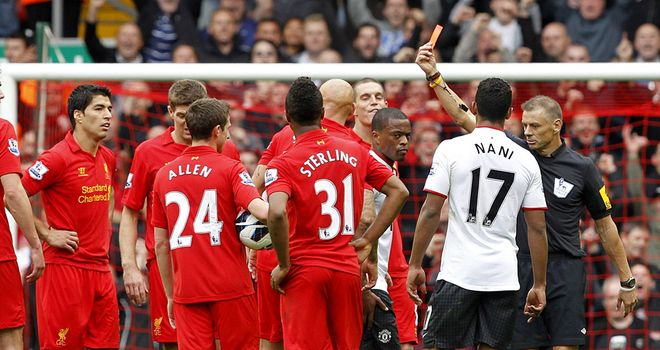 Halsey: sent off Shelvey in the first half