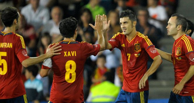 David Villa: Missed the European Championship after breaking his leg while playing for Barcelona