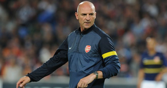 With Wenger watching from the stands, Bould took charge from the dugout