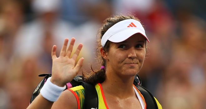 Laura Robson: continued her impressive run by knocking out the third seed