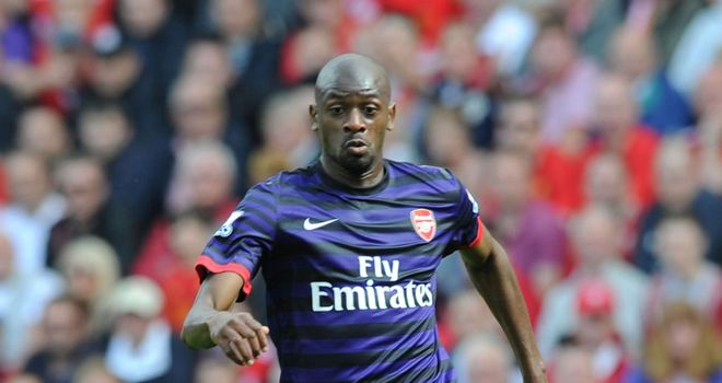 Abou Diaby: An injury doubt for the north London derby with Tottenham