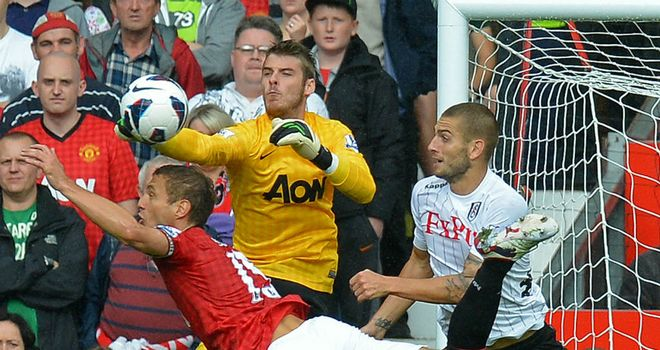 David de Gea: Manchester United keeper was dropped against Southampton after this mistake against Fulham