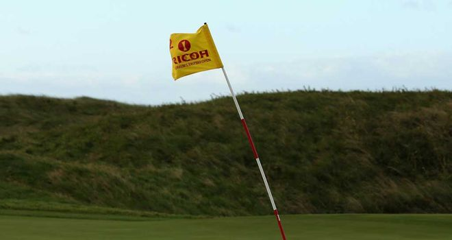 Winds at Hoylake caused suspension at 8am