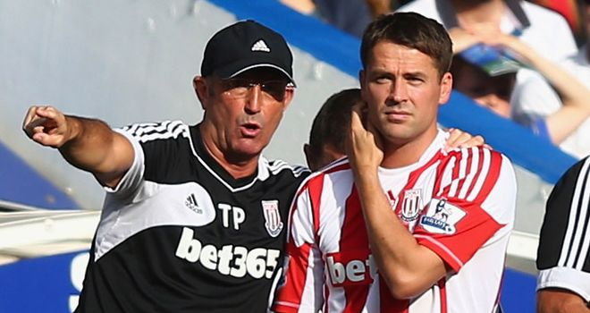 Tony Pulis and Michael Owen: Stoke boss will not rush striker back