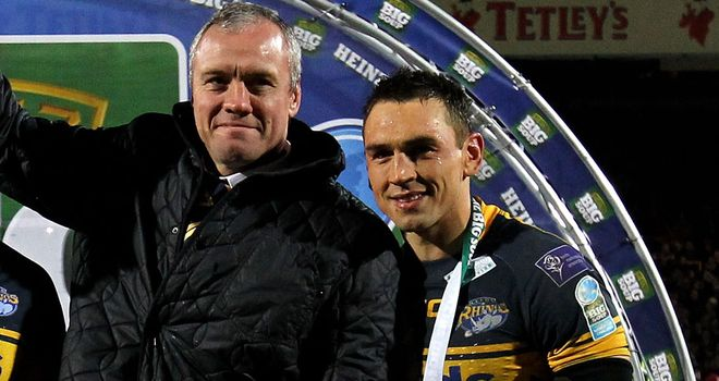 Brian McDermott: hailed the efforts of skipper Kevin Sinfield and the rest of the Leeds squad after they retained their Super League title