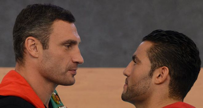 Vitali Klitschko (L) believes Charr is a valid contender for his WBC belt