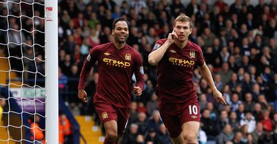 Dzeko: Netted a brace after stepping off the bench