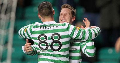 Kris Commons: Scored a hat-trick as Celtic reached the semi-finals