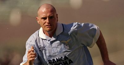 Paul Gascoigne: Pictured while at Lazio