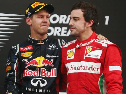 Alonso saw his lead wiped out by Vettel