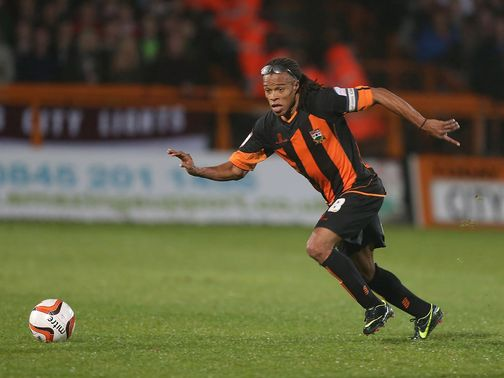 Edgar Davids: Saw red late-on against Accrington