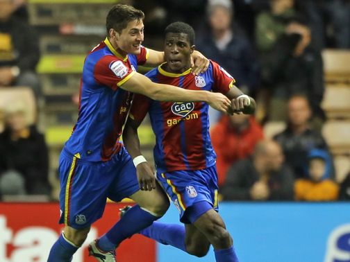 Wilfried Zaha (r): Can help Palace to a sixth win in seven