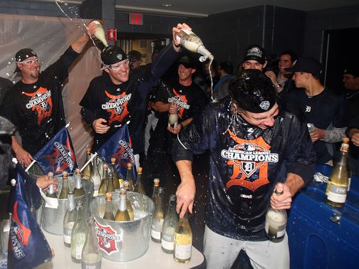 Celebration time for the Detroit Tigers