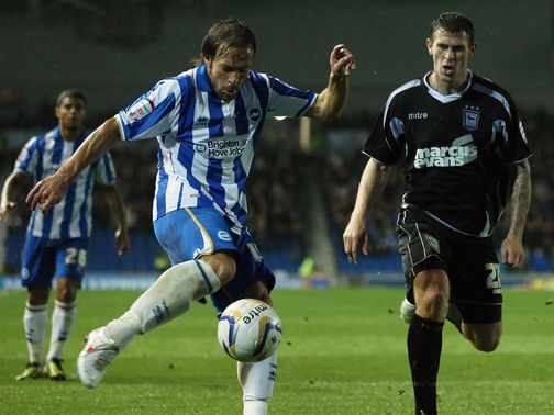 Brighton were unable to beat lowly Ipswich