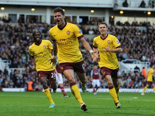 Olivier Giroud: Scored against West Ham