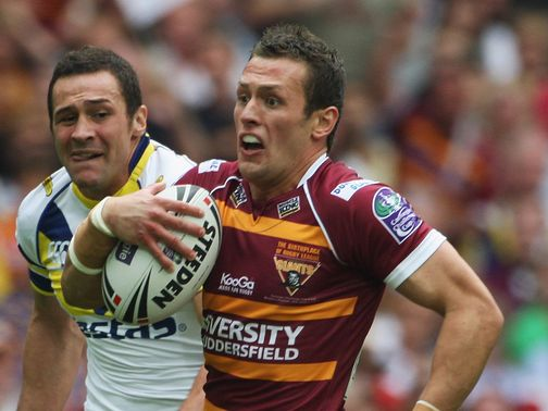 Shaun Lunt: Hat-trick of tries for Huddersfield