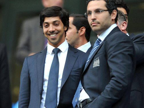 Sheikh Mansour (left): City's money man