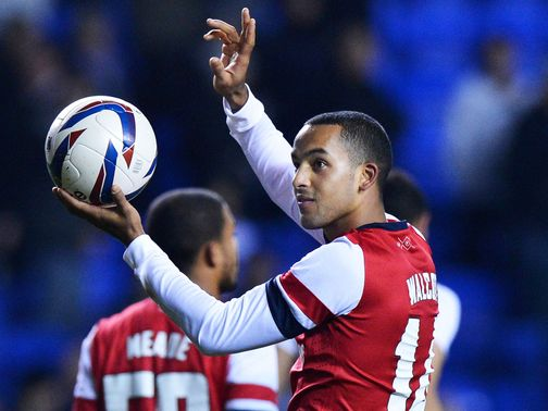 Theo Walcott: Took home the match ball last time he played against Reading