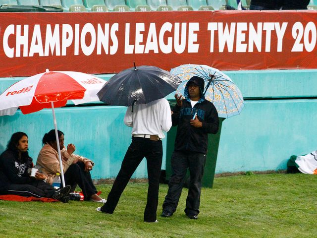 The match in Durban was abandoned due to persistent rain
