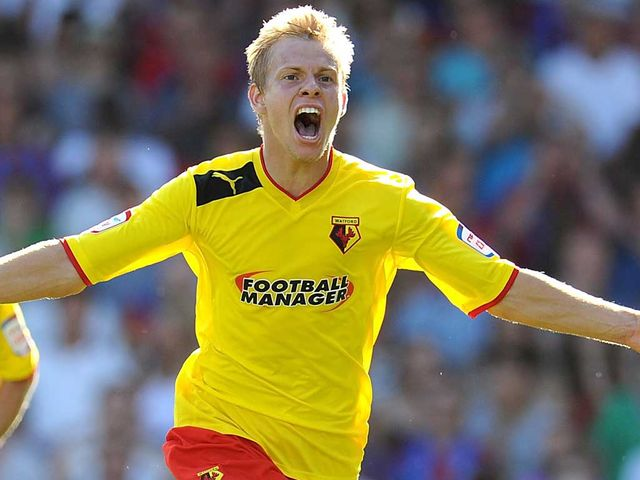 Matej Vydra: Netted a brace for Watford