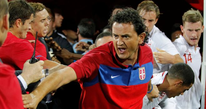 Brawl: There were violent scenes after the final whistle in Serbia