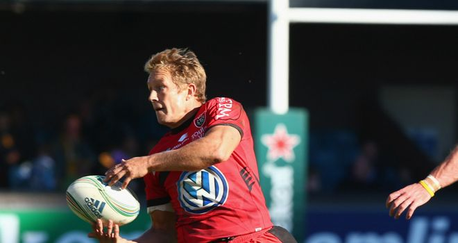 Jonny Wilkinson: held his nerve in the closing stages to kick Toulon to victory in Paris