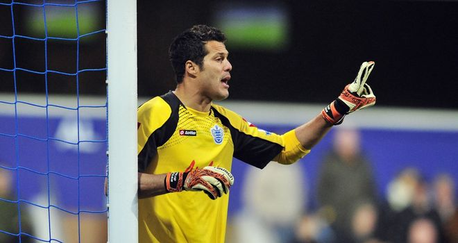 Julio Cesar: The Brazilian goalkeeper was forced off at half-time during the 0-0 draw at Sunderland