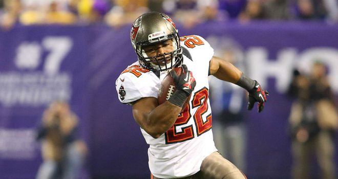 Doug Martin: Scored twice for the Tampa Bay Buccaneers