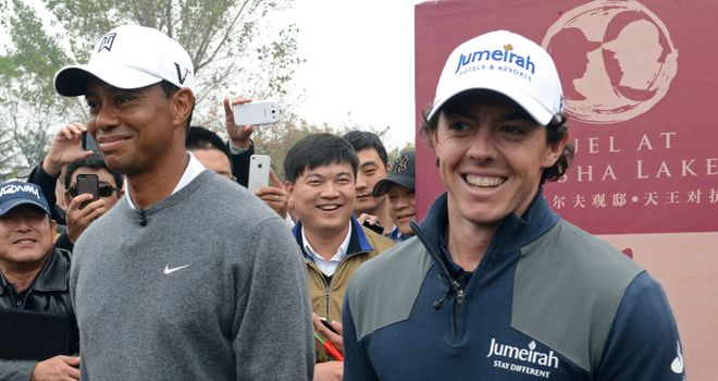 Tiger Woods and Rory McIlroy: Were in exhibition mode rather than play at the WGC-HSBC Champions event