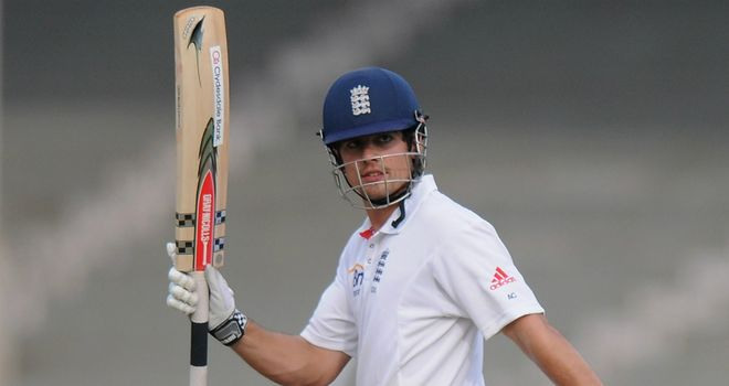 Alastair Cook: has struck 20 fours from 341 deliveries in his 168no