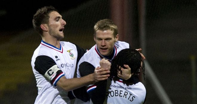 McKay: Struck twice to help Inverness beat Dundee