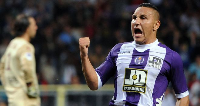Adrien Regattin celebrates for Toulouse