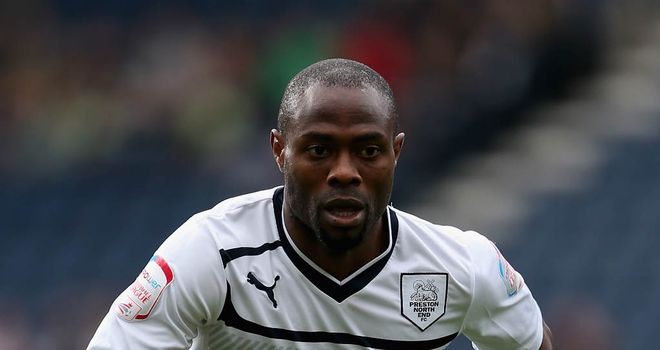 Akpo Sodje: Has turned down the offer of another monthly deal at Preston