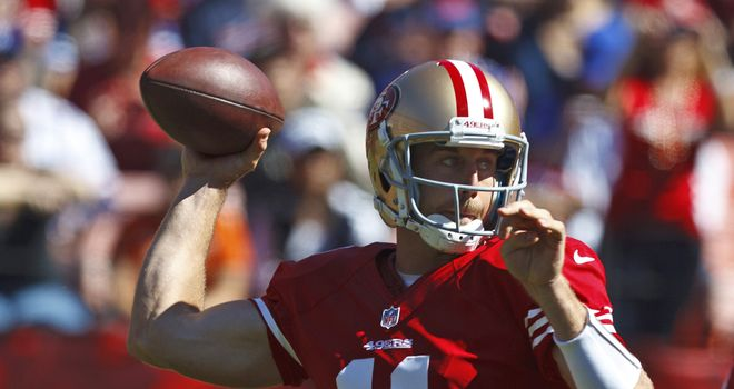 Alex Smith: Threw for 303 yards and three touchdowns in easy win for 49ers