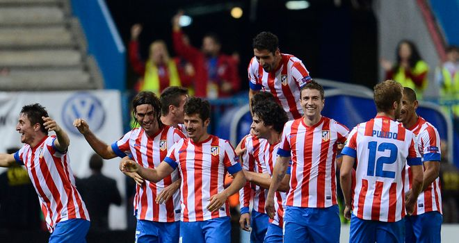 Cristian Rodriguez scored late to secure the win for Atletico Madrid