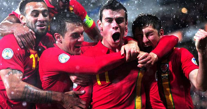 Gareth Bale: Notched brace to beat Scotland