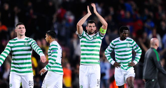 Proud: Celtic's Nou Camp display can inspire them, says Andy Walker