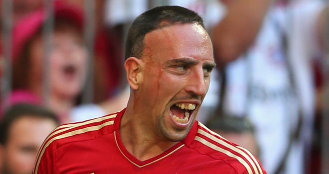 Franck Ribery: Gave Bayern Munich the lead against Eintracht Frankfurt