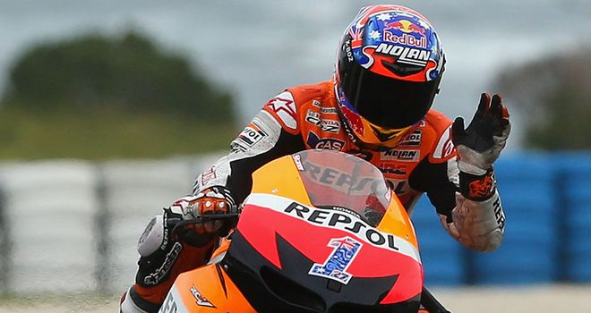 Casey Stoner: Eased to pole position for his home race at Phillip Island