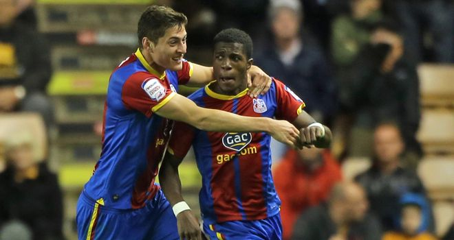 Wilfried Zaha: Bagged a brace as Palace prevailed in a seven-goal thriller