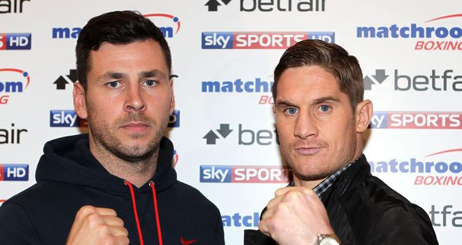Darren Barker (l): Is targeting another world title shot
