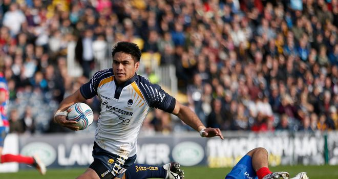 David Lemi: Scored four tries in Worcester's emphatic victory