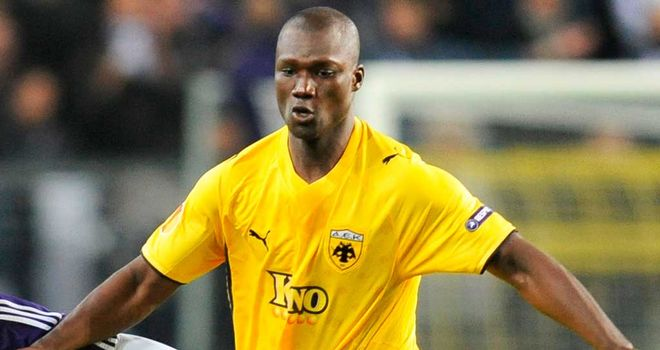 Papa Bouba Diop: In action for AEK Athens