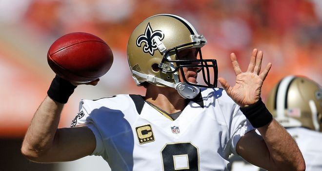 Drew Brees: helped the Saints rally to win on the road, although only after surviving a late scare