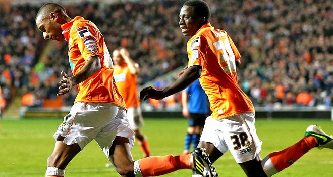 Elliott Grandin: Found the net for Blackpool