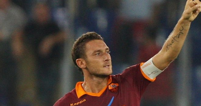 Francesco Totti: Scored one and made another at the Stadio Olimpico